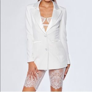 Meshki sz M tuxedo blazer white